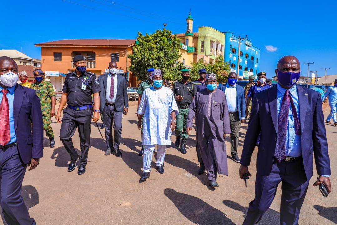 Lalong visits areas affected by End SARS protest ,vows not to allow return of Chaos in Plateau