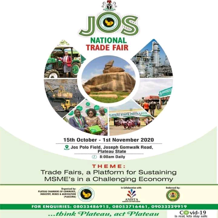 PLACCIMA ,Anista to make Jos Trade Fair 2020 a safe Platform for MSMEs to strive in a Challenging Economy